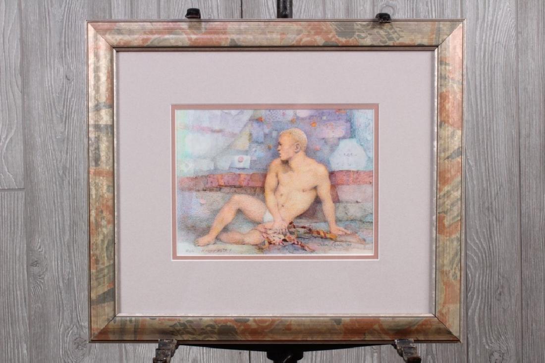 John B Lear (20th C, Pennsylvania) Watercolor 1997