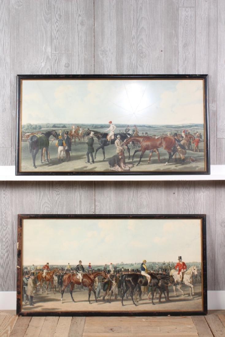 2 JF Herring Sr. Equestrian Hunt Lithographs