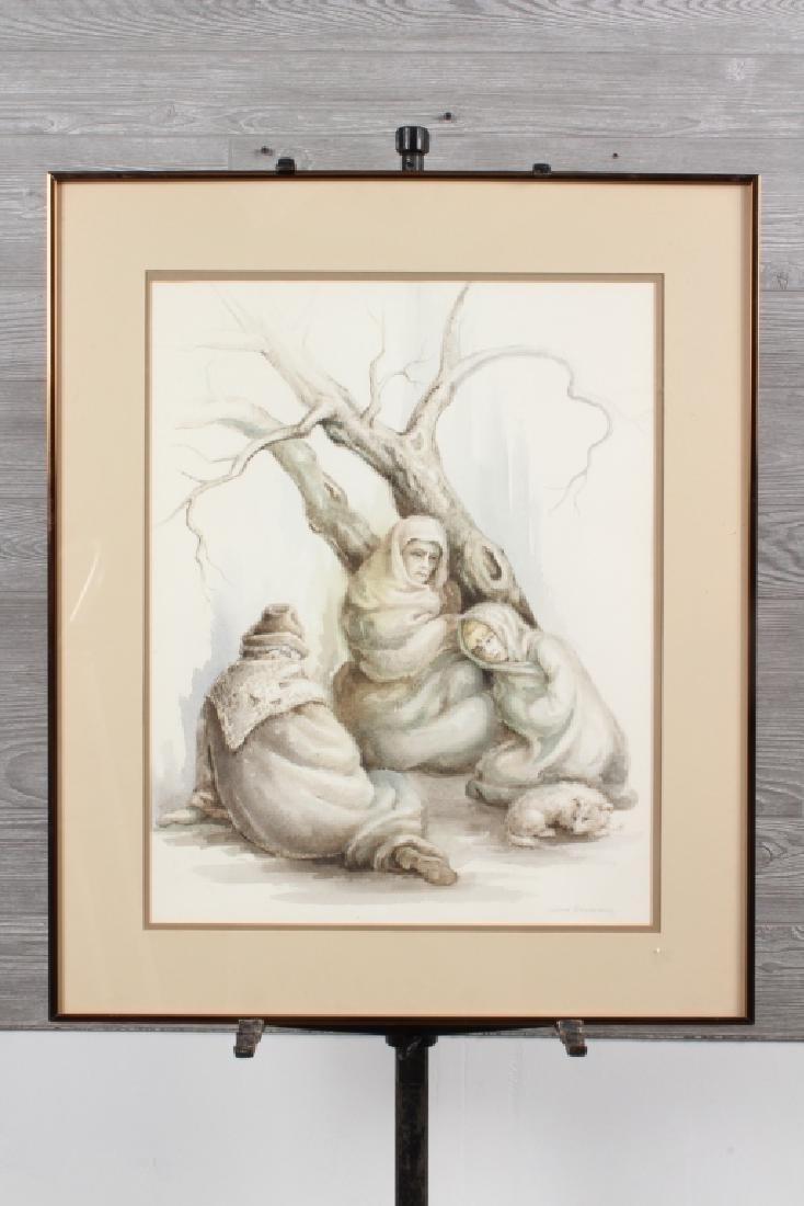 Galina Alexandroff Russian Strife Watercolor