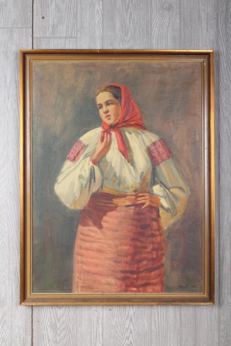 1965 Ukrainian Costume Portrait Painting