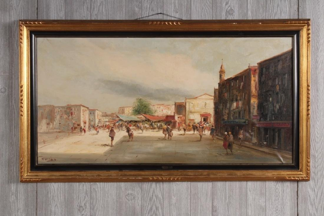 After Dones- Arabesque Market Scene Painting