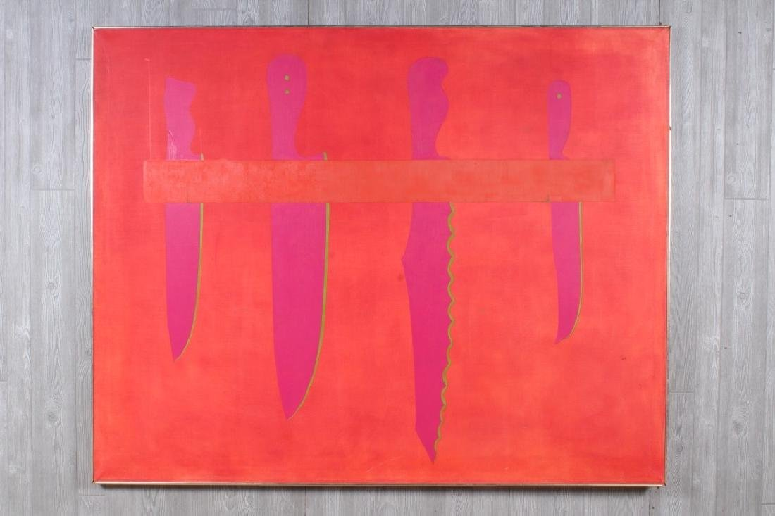 Emily Hixon Op Art Large Scale Rack o' Knives