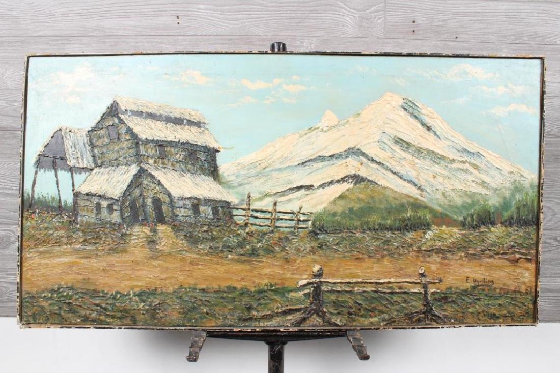Andean Naive Landscape Painting