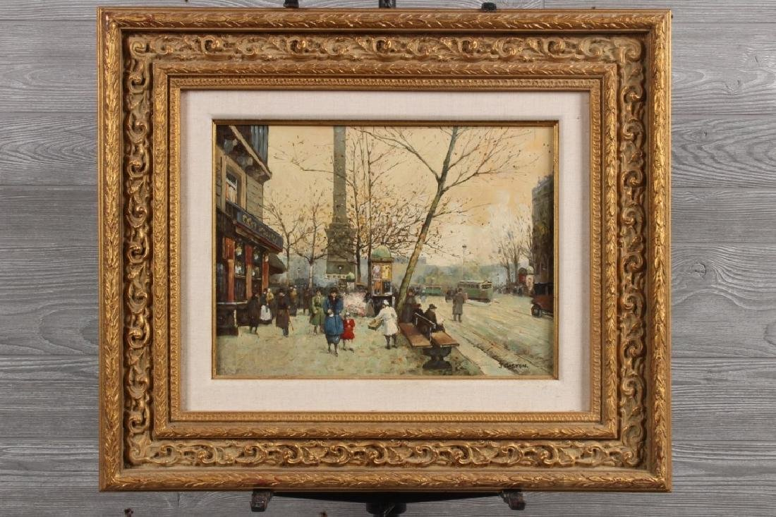 Johnny Gaston (b. 1955) Parisian Street Scene