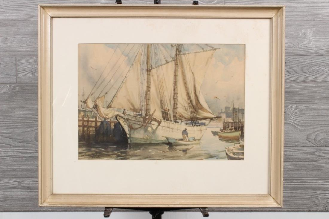 Gordon Hope Grant (US/UK 20th C) Gloucester Print