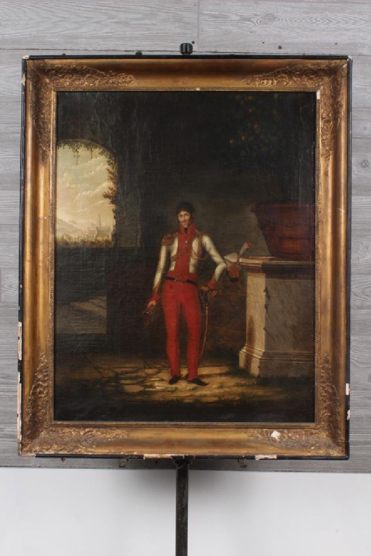 Antique Continental Regimental Figure Painting