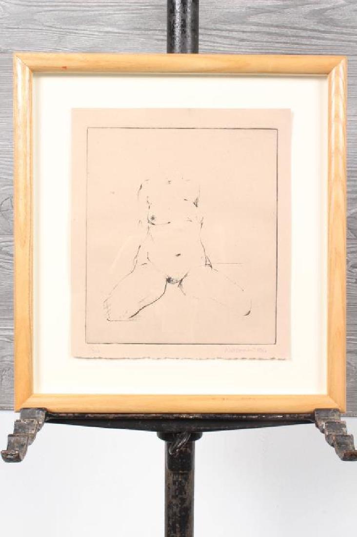 Gary Weisman (b. 1952) Nude Study Etching