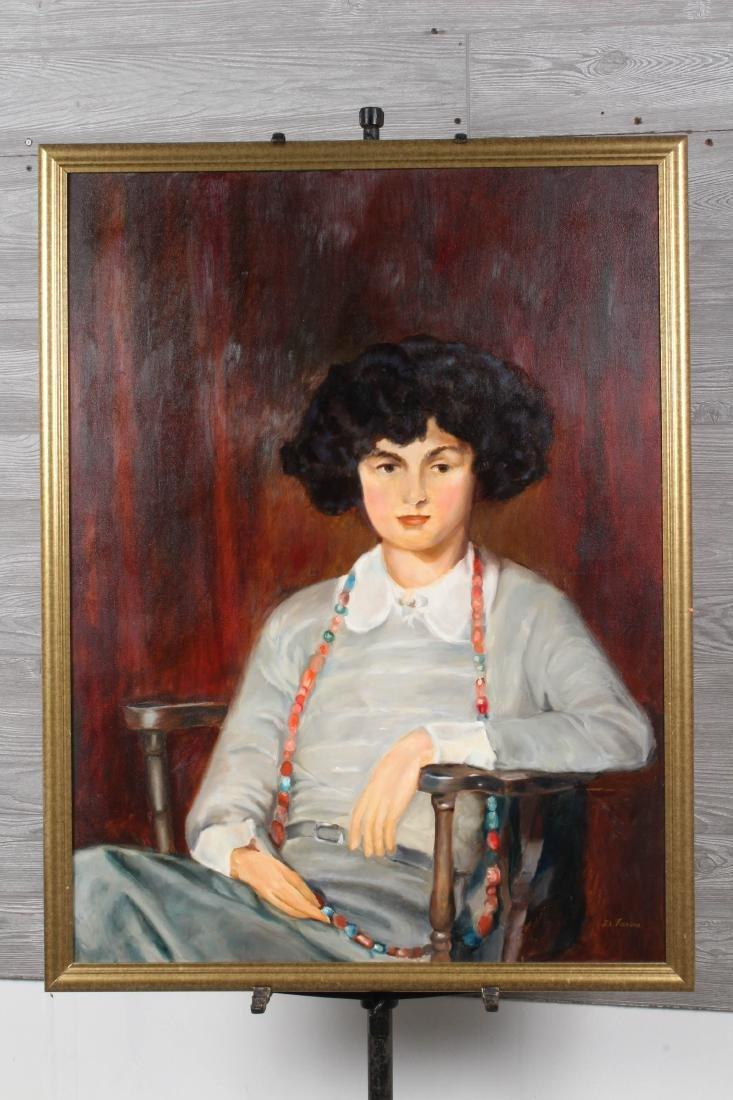 Studio Portrait Painting Signed D Farina