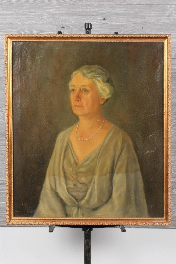 20th C Portrait Painting Signed Margaret Cobb