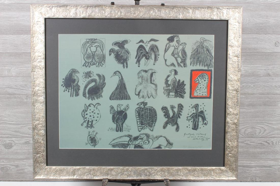Signed Guillaume Corneille 1975 Lithograph