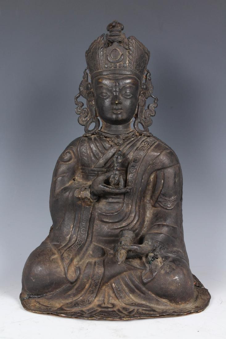 Antique Repoussé Nepalese Monk