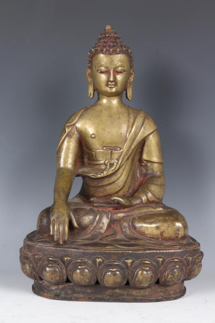 Antique Bronze Nepalese Buddha