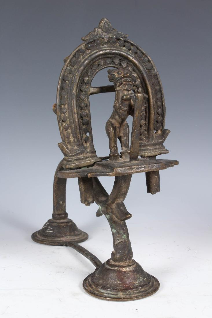 Antique Bronze Indian Puja Lamp