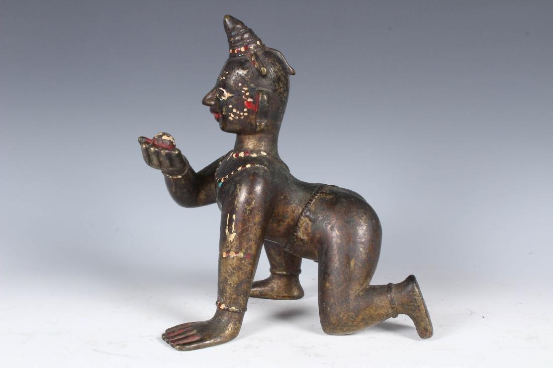 Antique Bronze Indian Baby Krishna