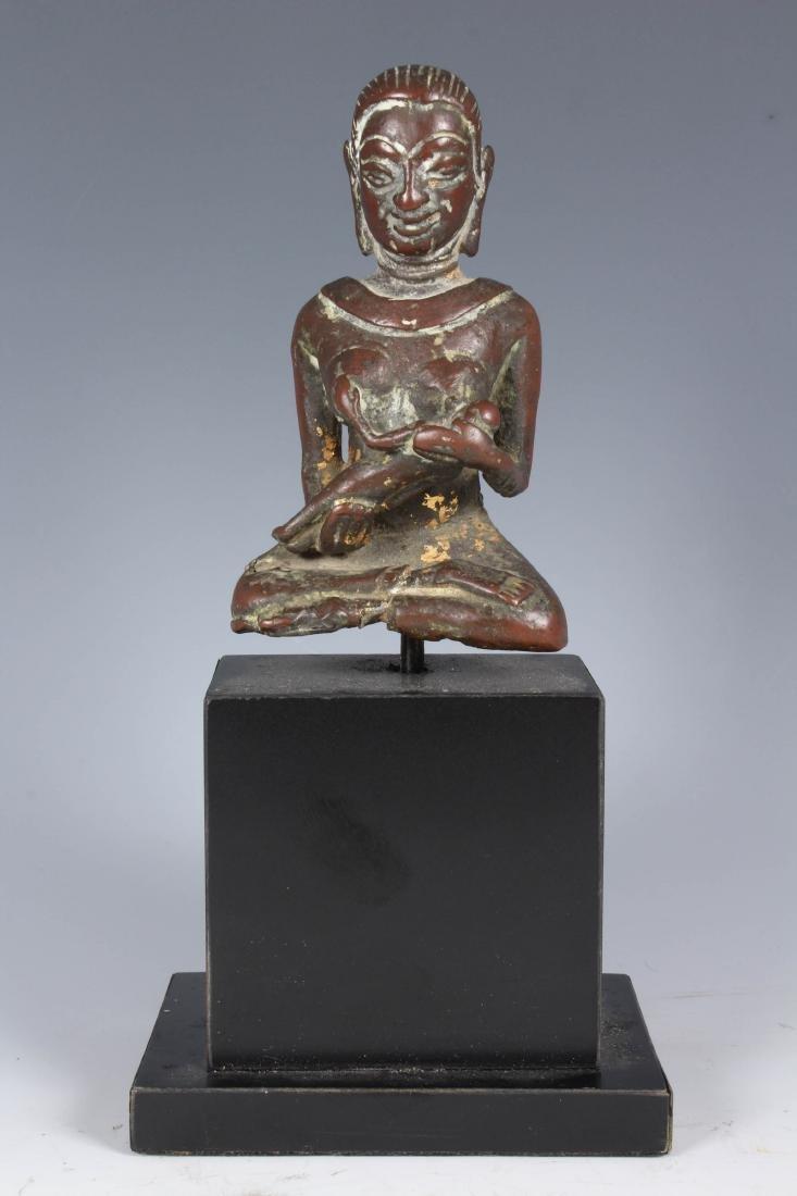 Antique Copper Burmese Votive Statue