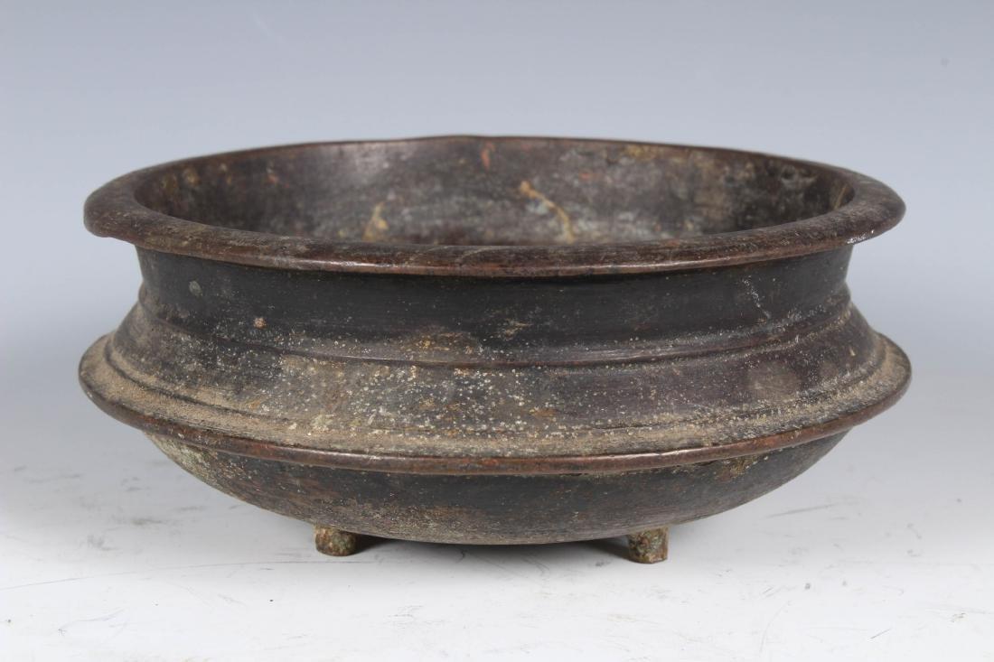 Antique Bronze Sri Lankan Buddhist Incense Bowl