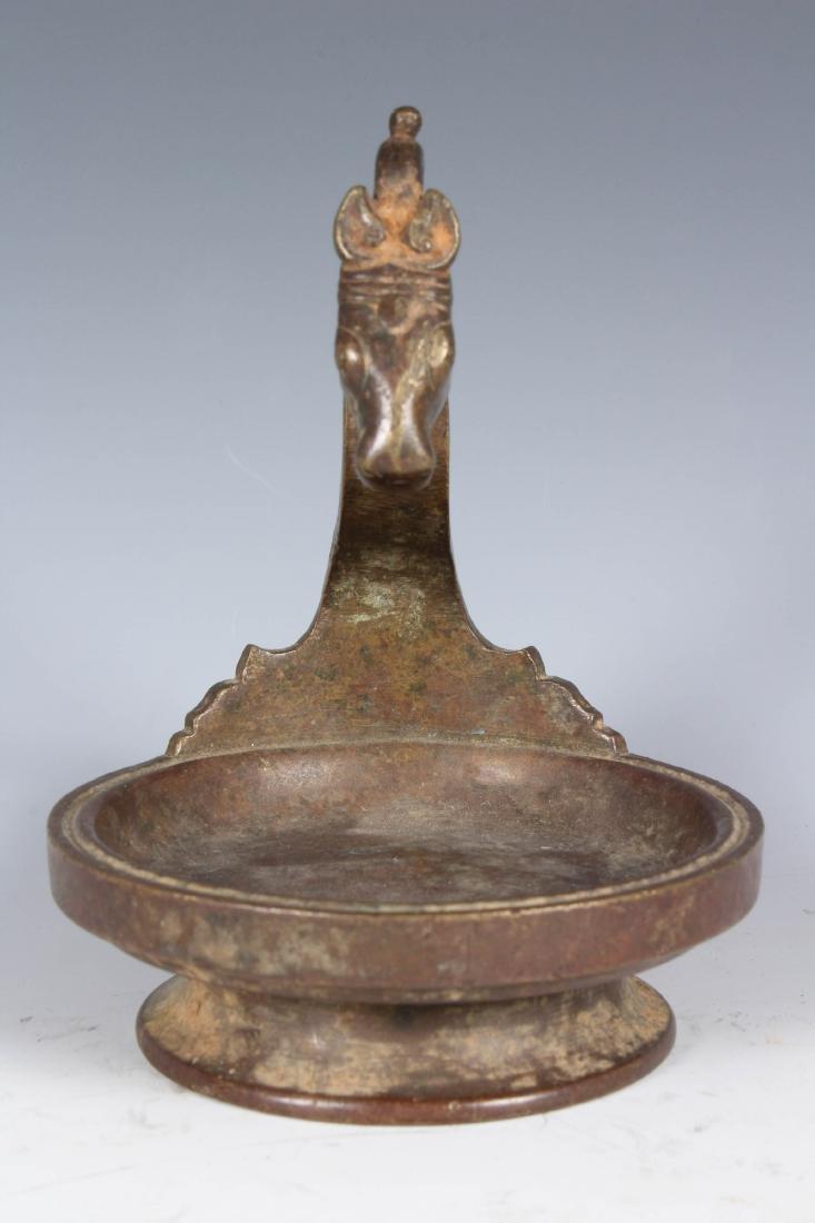 Antique Bronze Sri Lankan Buddhist Lamp