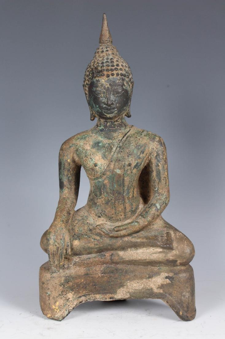Antique Bronze Thai Buddha