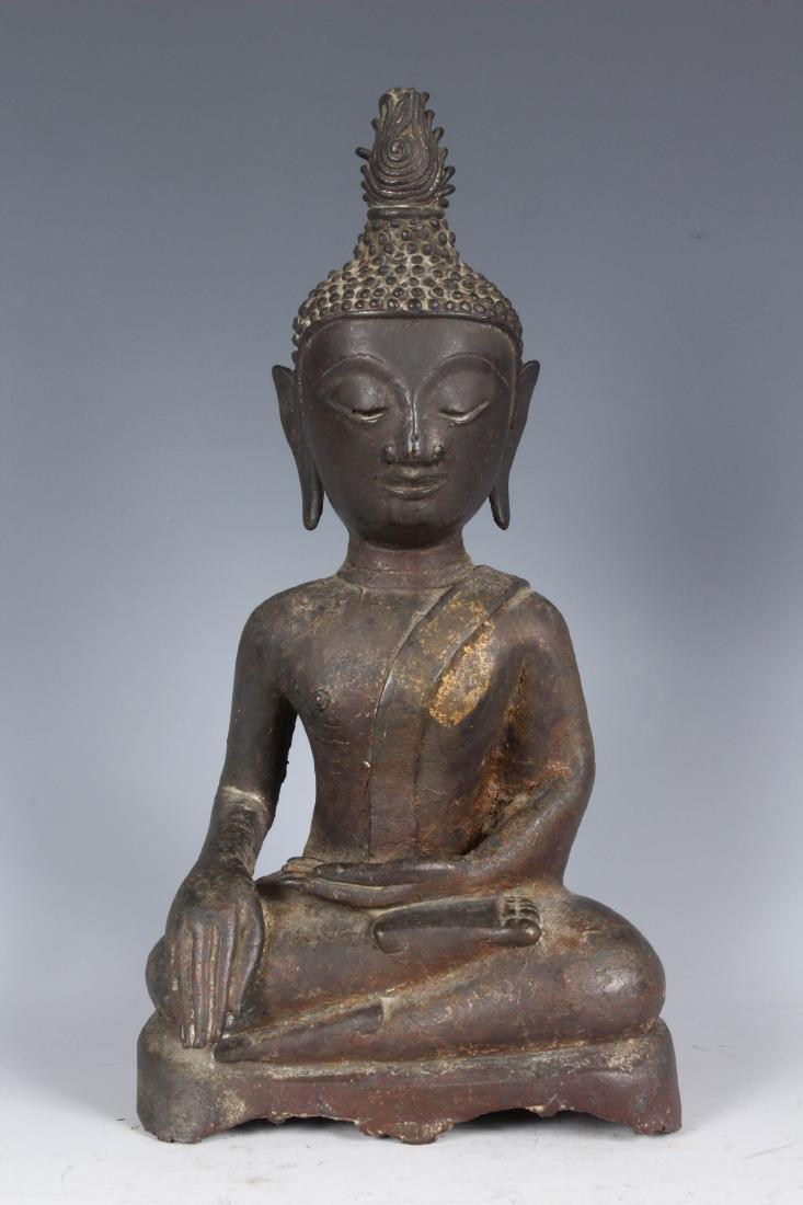 Large Antique Bronze Thai Buddha