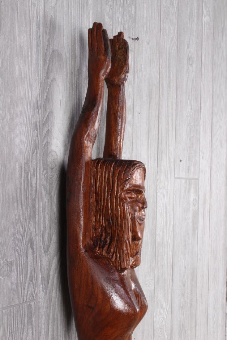 Folk Art Carved Timber Figural Nude - 2