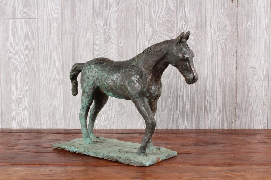 Cast Bronze Figural Horse