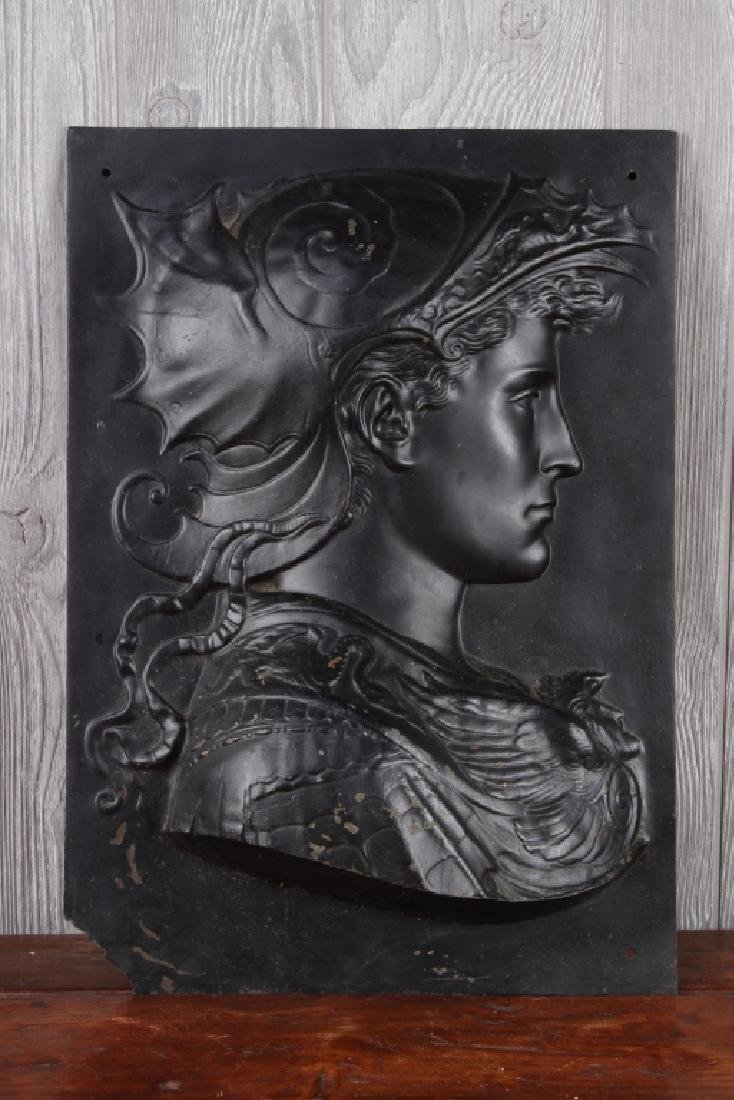 Bronze Relief Mercury Portrait Plaque