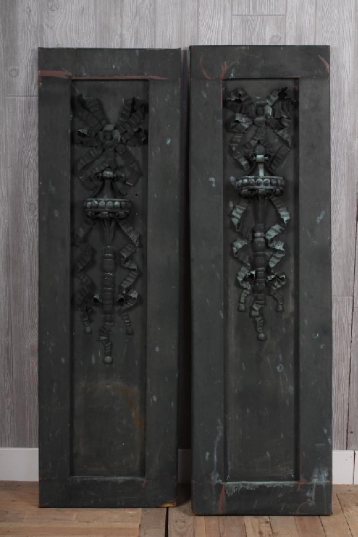 2 Architectural Copper Appliques