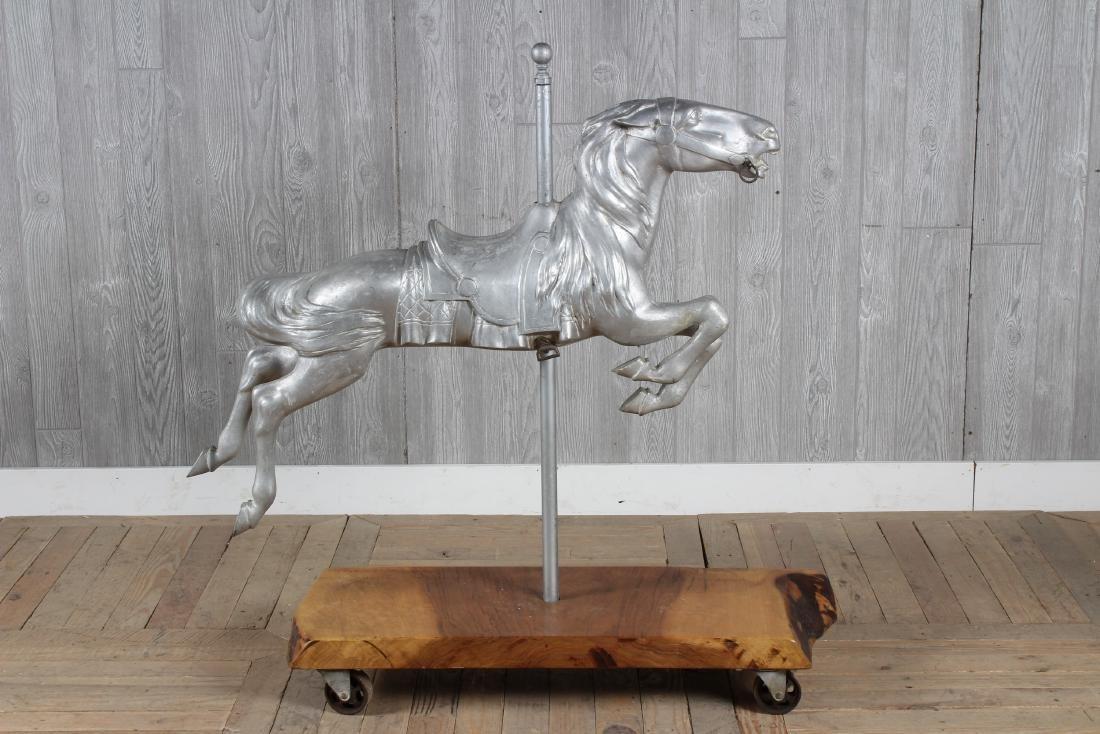 Vintage Cast Metal Carousel Horse