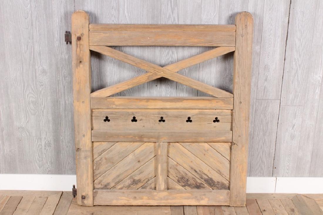 Wooden Trefoil Gate