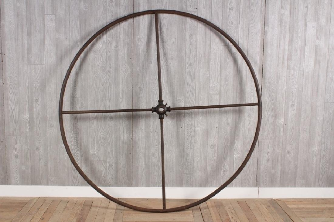 Wrought and Cast Iron Industrial Wheel