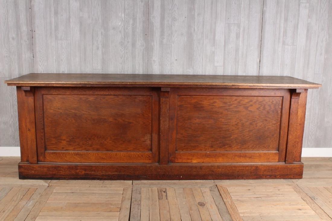 Late 19th Century Oak Counter