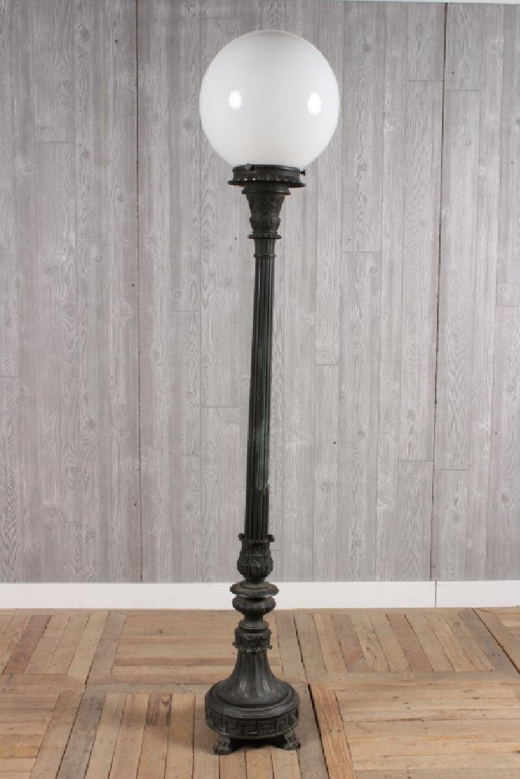Bronze Torchiere Lamp