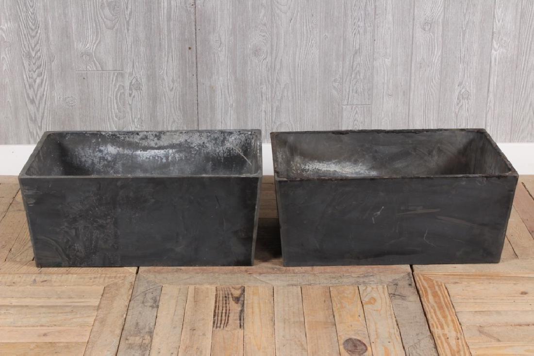 Pair Composite Soapstone Planters