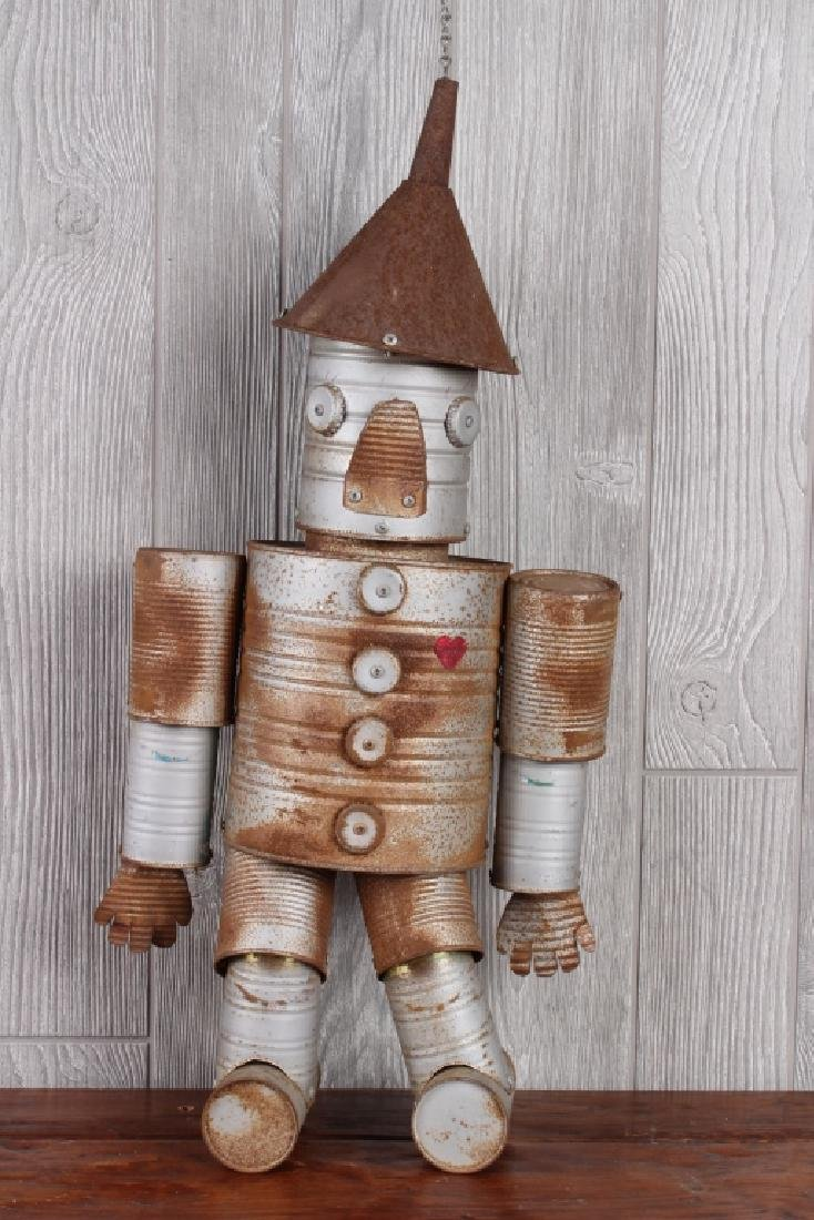 Folk Art Tin Man Marionette