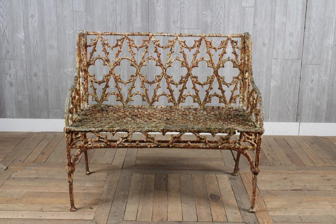 Cast Iron Gothic Style Bench