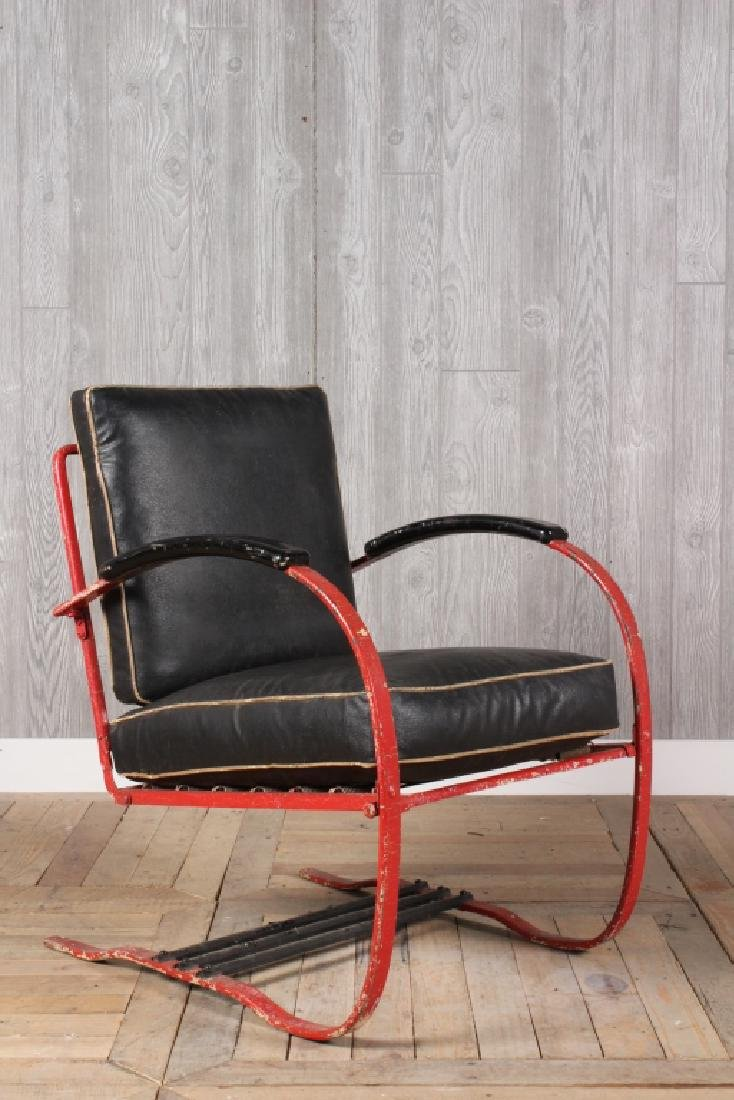 Art Deco Iron Spring Chair