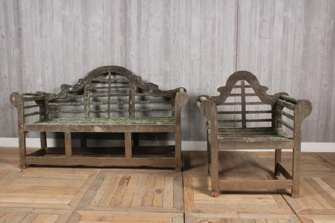 Teak Garden Bench & Chair