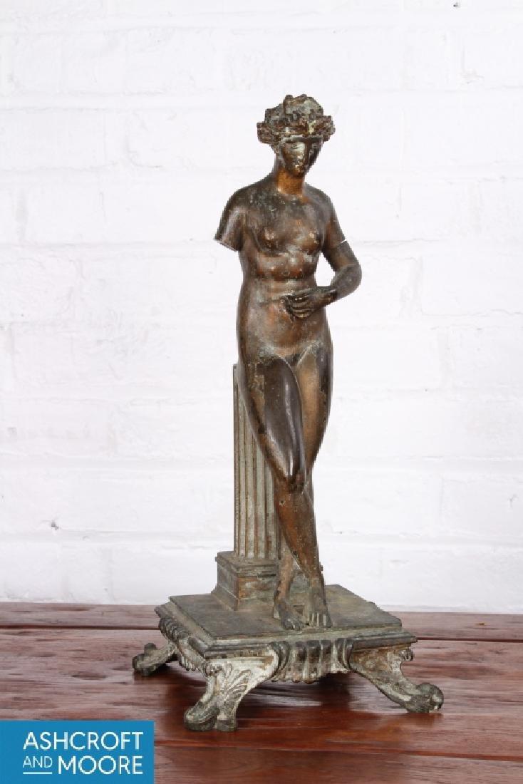 Good Neo-Classical Bronze Female Figure