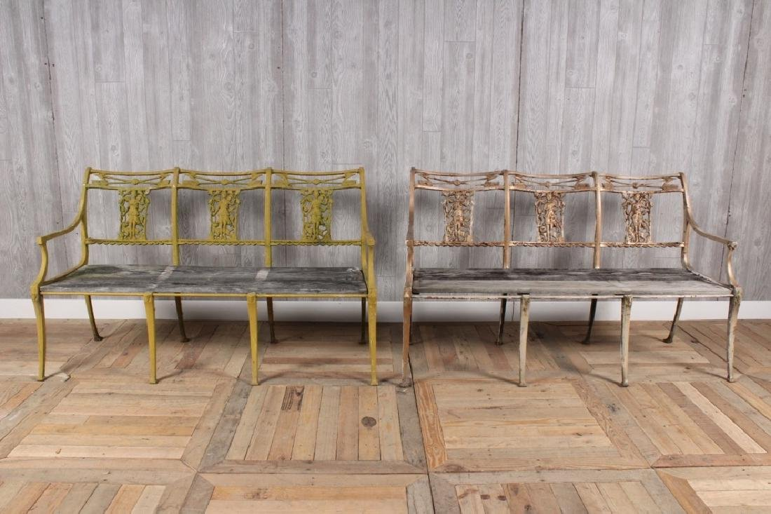 Neoclassical Pair of Benches