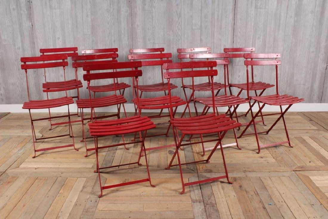 12 French Folding Cafe Chairs