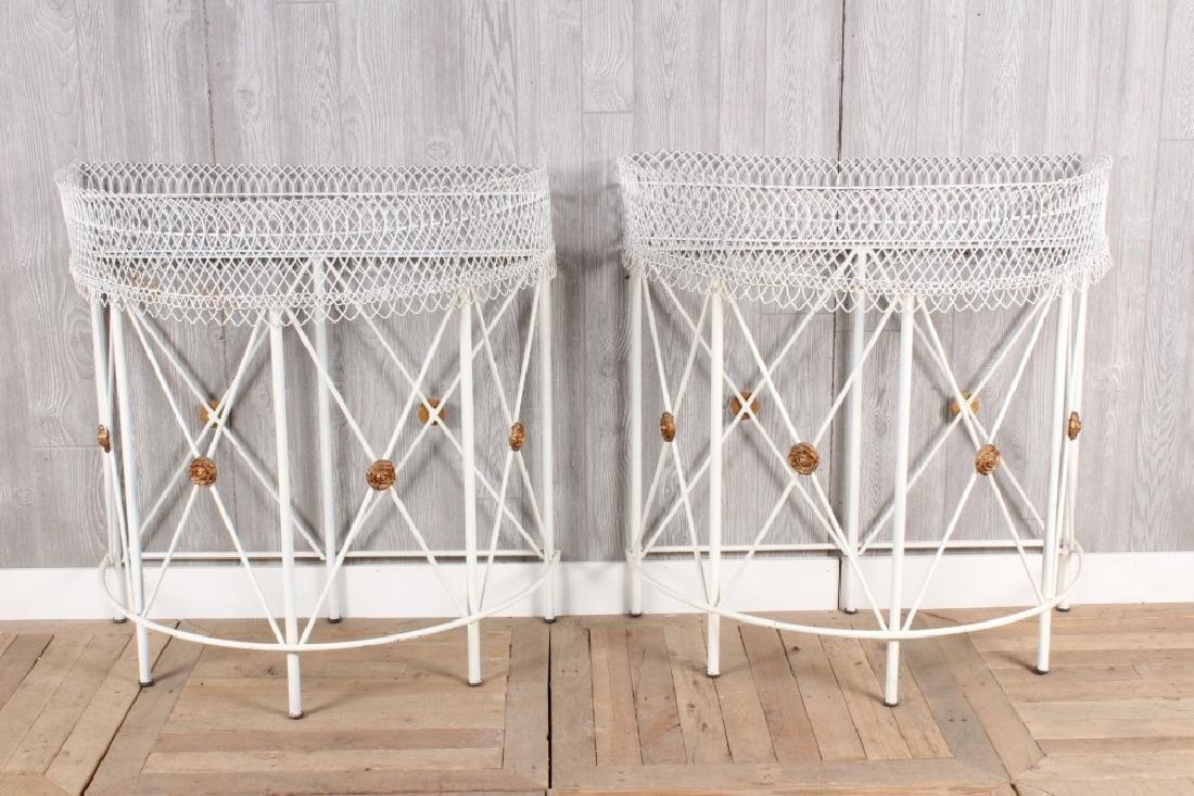 Pair Regency Style Wirework Planters