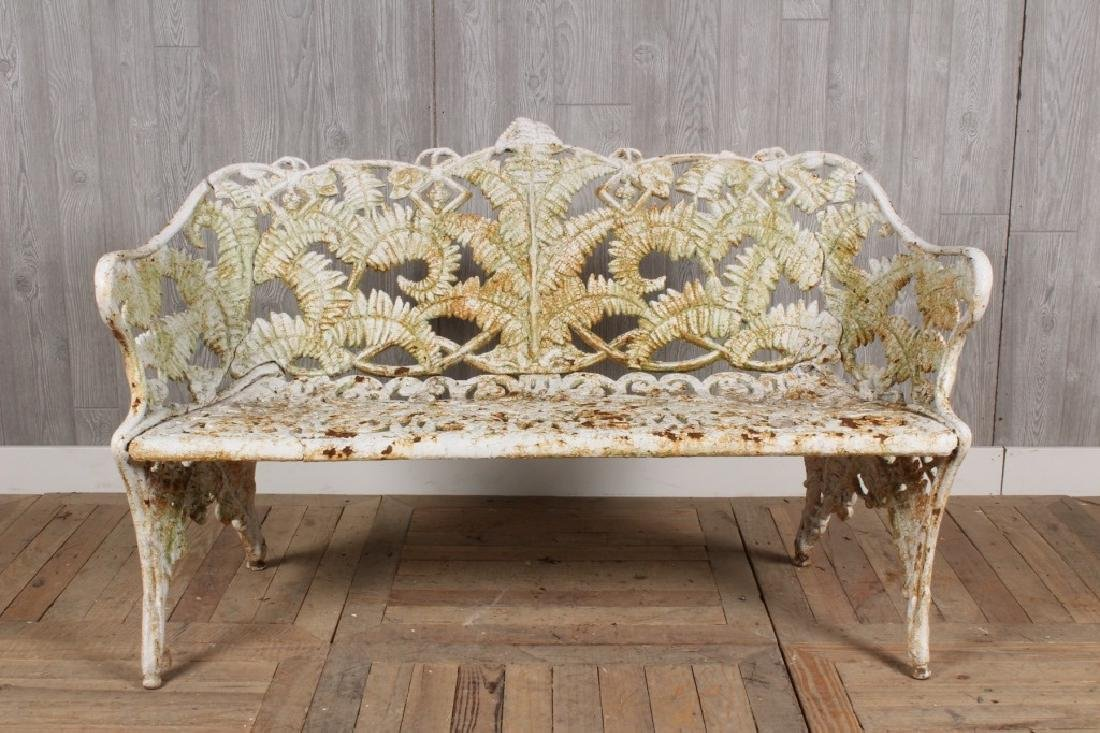 Cast Iron Fern Motif Bench