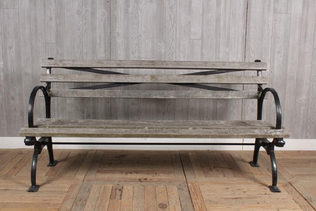 Cast Iron and Wood Bench