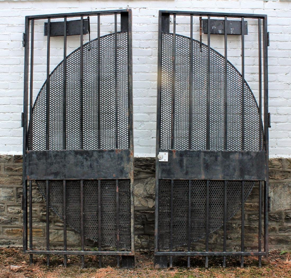 Modernist Wrought Iron Entry Gates