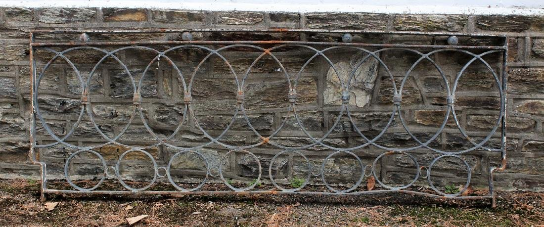 Regency Style Wrought Iron Panel