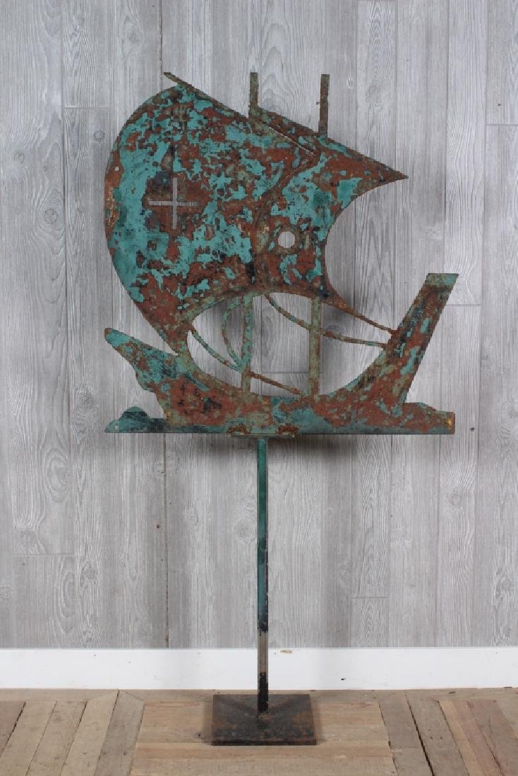 Iron Ship Weathervane