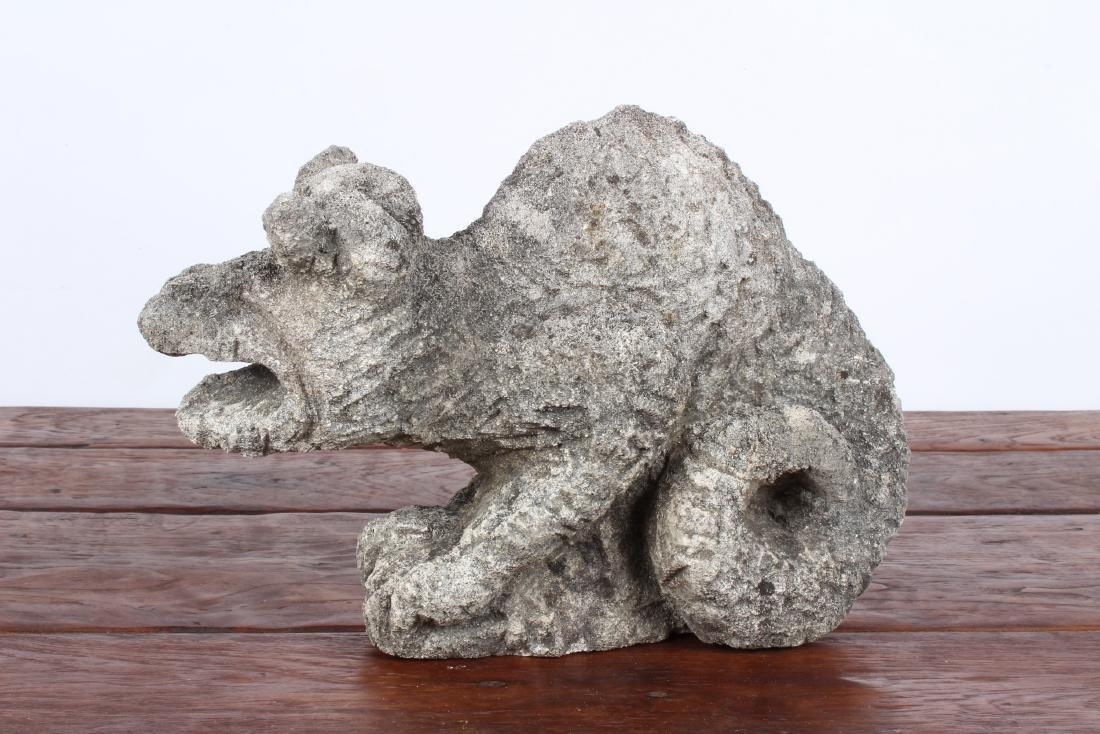 Carved Stone Gargoyle