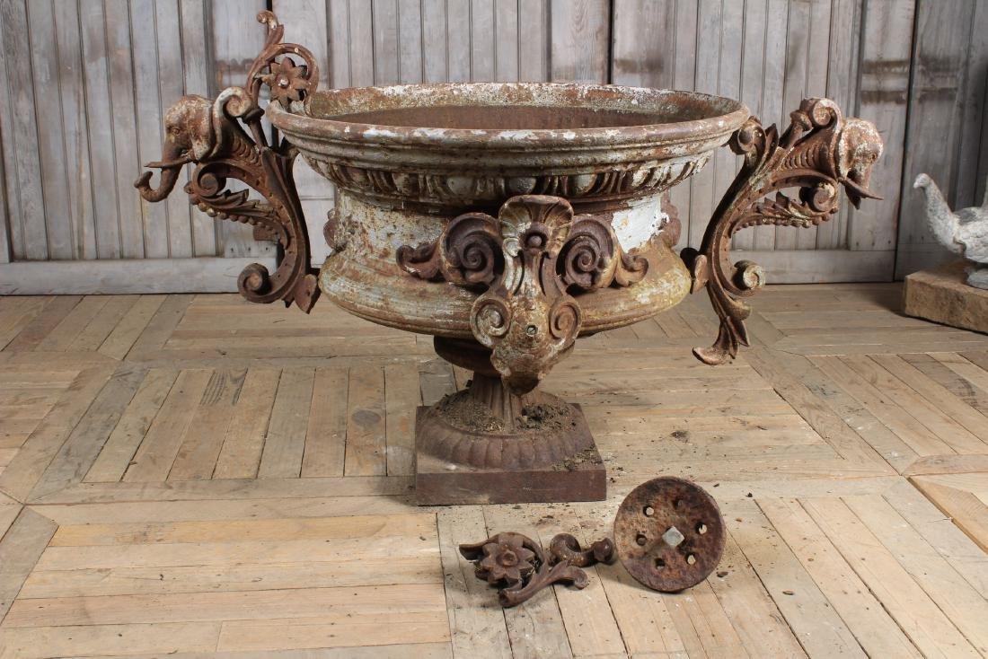 Victorian Garden Urn with Elephant Handles