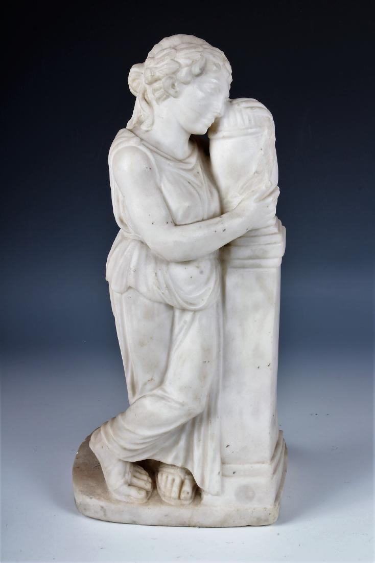 Carved Marble Garden Figure