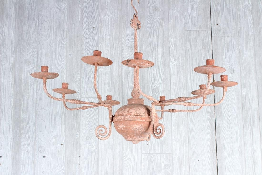 Continental Wrought Iron Chandelier